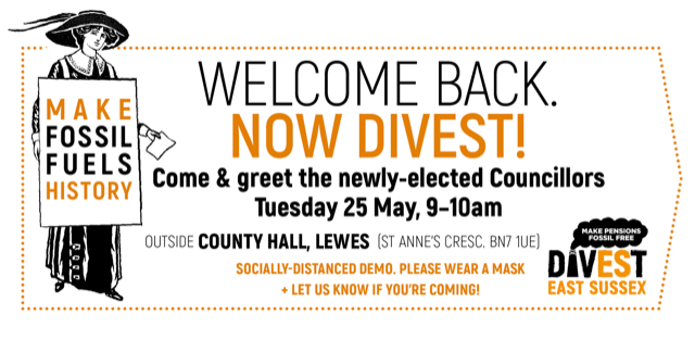 Welcome back, now divest!